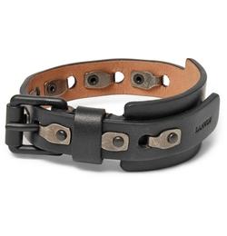 Lanvin - Leather And Burnished Metal Bracelet