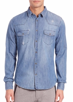 The Kooples Sport  - Fleece Denim Sportshirt