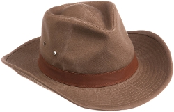Dorfman Pacific - Garment Washed Twill Outback Hat