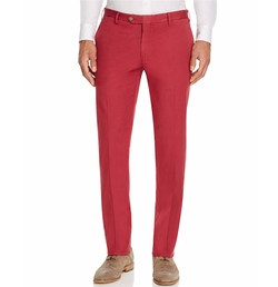 Canali - Stretch Regular Fit Linen Chino Pants