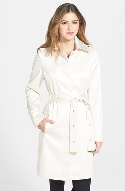 Via Spiga  - Belted Satin Trench Coat