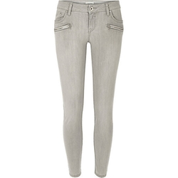 River Island - Light Grey Low Rise Amelie Superskinny Jeans