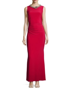Laundry by Shelli Segal   - Sleeveless Embellished-Neck Gown