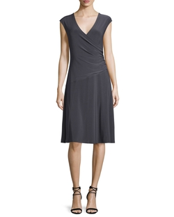 NIC+ZOE - Cap-Sleeve Faux-Wrap Dress