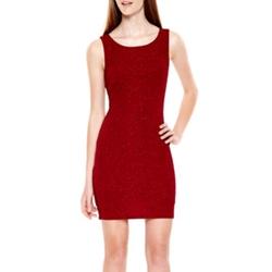 Speechless - Sleeveless Glitter Bodycon Dress