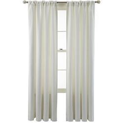 MarthaWindow - Hampton Basketweave Rod-Pocket/Back-Tab Curtain Panel