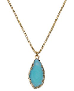 ABS by Allen Schwartz - Turquoise-Colored Stone Pendant Necklace
