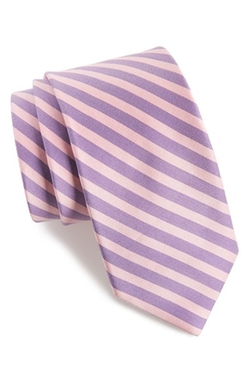 Ted Baker London - Stripe Cotton & Silk Tie