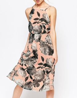 Uttam Boutique - Cherry Blossom Strappy Halter Dress