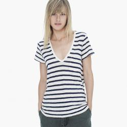 James Perse - Stripe Pocket Tee