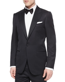 Ermenegildo Zegna - One-Button Wool Tuxedo Jacket