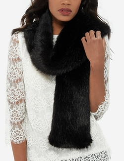 The Limited - Faux Fur Stole Collar Scarf