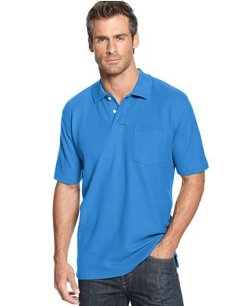 John Ashford  - Short Sleeve Pocket Pique Polo Shirt