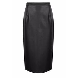 Boohoo - Jasmine Leather Look Midi Skirt