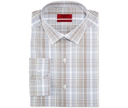 Alfani RED  - Fitted Plaid Performance Dress Shirt