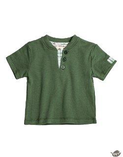 Spence Baby - Organic Short Sleeve Henley T-Shirt