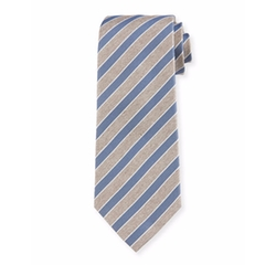 Isaia - Rep-Striped Silk Tie