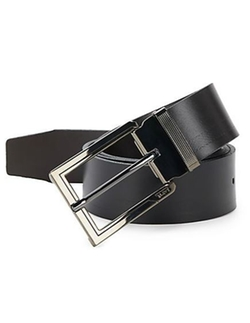 Tumi  - Ballistic Reversible Leather Belt