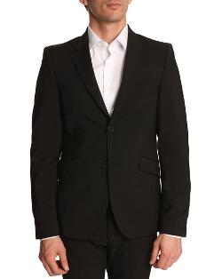 ACNE STUDIOS - Wall street black wool jacket