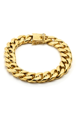King Ice - Gold Miami Cuban Chain Bracelet