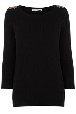 Oasis - Embellished Shoulder Sweater