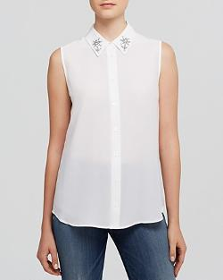 Equipment  - Colleen Jewel Collar Shirt - Bloomingdale