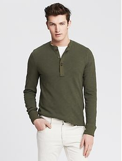 Banana Republic - Elbow-Patch Henley Shirt