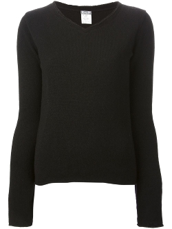 Kristensen Du Nord  - Raw Edged V-Neck Sweater
