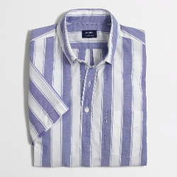 J. Crew - Factory Short-Sleeve Stripe Popover Shirt