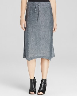 Eileen Fisher - Linen Knit Drawstring Skirt