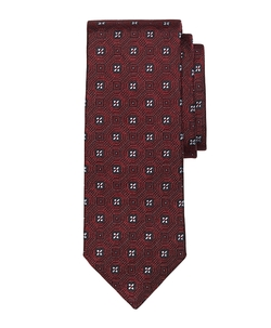 Brooks Brothers - Four Petal Floral Medallion Tie