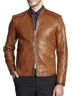 Fendi - Perforated Leather Jacket