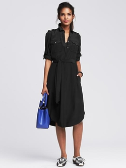 Banana Republic - Silk Long Shirtdress