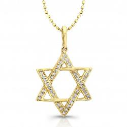 Coby Madison - Yellow Gold - Diamond Star Of David Necklace