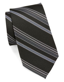 Black Brown 1826 - Multi-Stripe Silk Tie