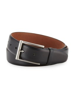Neiman Marcus - Square Buckle Leather Belt