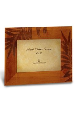 Welcome to the Islands - Swaying Palm Etched Wooden Photo Frame