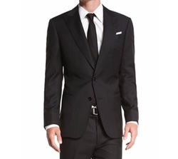 Armani Collezioni - G-Line Textured Windowpane Wool Suit