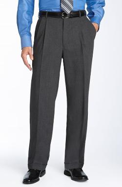Ballin - Double Reverse Pleated Wool Twill Trousers