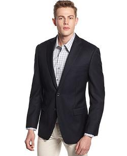 Calvin Klein  - Textured Solid Sport Coat