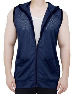 LNY Apparel - Mesh Zip-Up Hoodie Vest