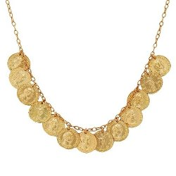 Target - Bronze Coin Necklace