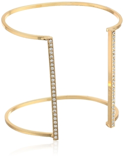 Jules Smith - Pave Lined Open Cuff Bracelet