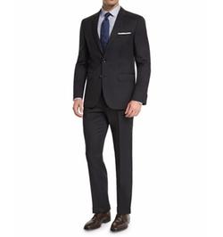Boss Hugo Boss - Johnstons Lennon Tonal-Grid Slim-Fit Basic Suit