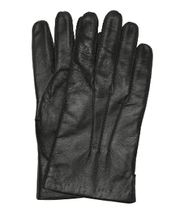 Portolano - Black Leather And Lambswool Lined All Tech Gloves