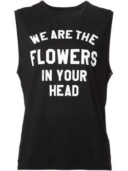 6397 - Sleeveless Slogan T-shirt