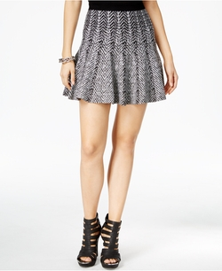 Guess - Printed Fit & Flare Mini Skirt
