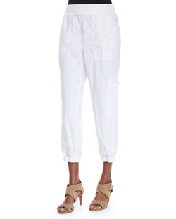 Eileen Fisher - Linen-Blend Cargo Ankle Pants