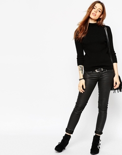 Asos Collection - High Neck Rib Sweater