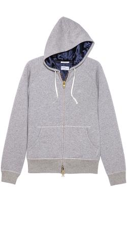 Gant Rugger  - Zip Up Hoodie with Satin Lining